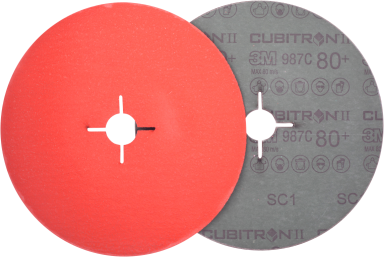 Fiberrondel 987C P80 ø125×22mm