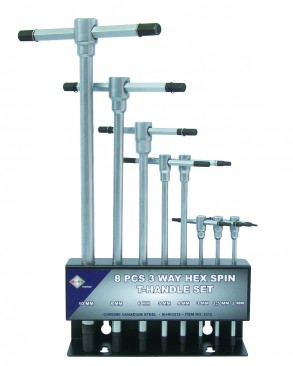 T-Grebs sæt 2-10mm m/metalstander