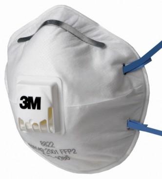 Støvmaske 3M 8822 FFP2 med ventil 10 stk...