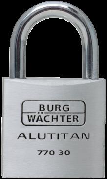 BW hængelås Alutitan 40 mm 2-pak