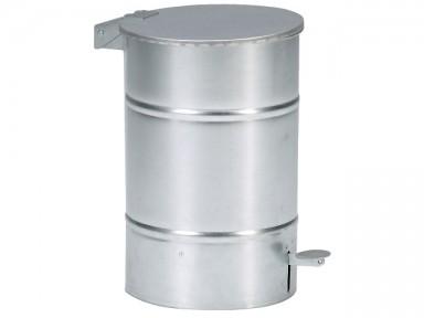 Affaldsbeholder 30 l galv. m/tip