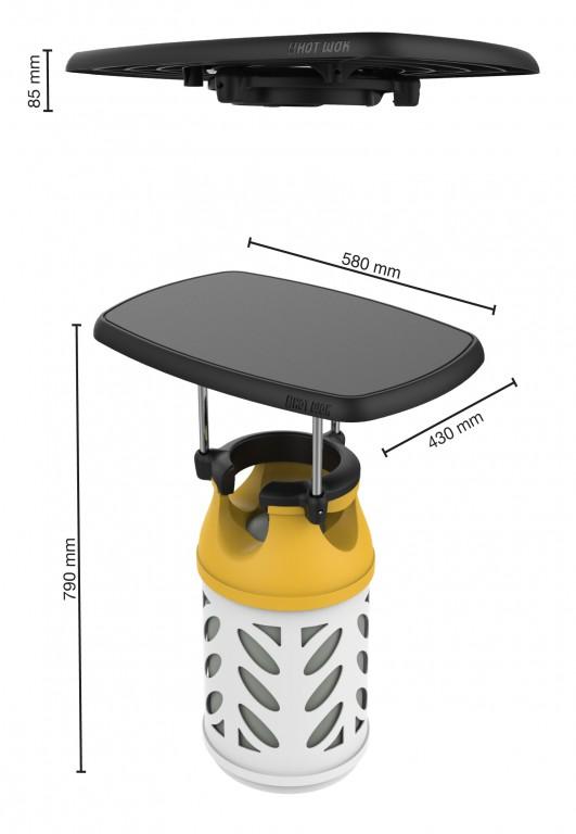 Bord til gasflaske Hot Wok