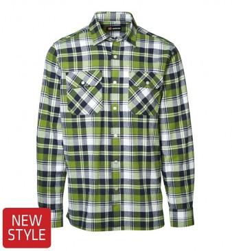 ID Green Leaf skjorte m.trykknap