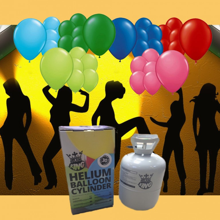 Ballonhelium 2,5 l til ca. 30 stk.