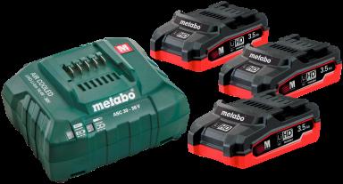 Batterisæt med 3×18V/3,5Ah LiHD, + lader...