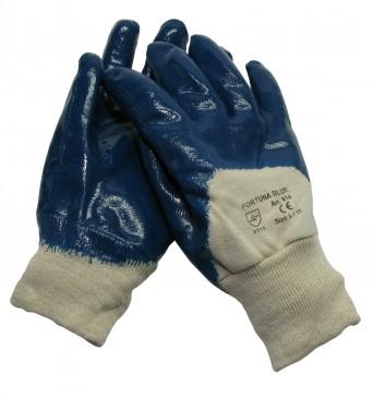 Handske Fortuna Blue med rib