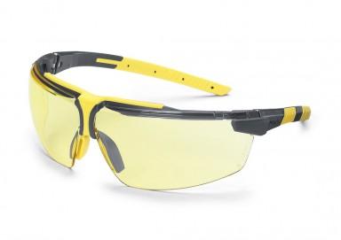 Brille UVEX I-3, sort stel og gul linse