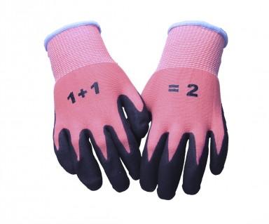 Børnehandske 1+1=2 pink