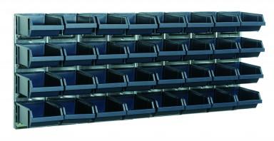 Boltreol Raaco med 32 kasser