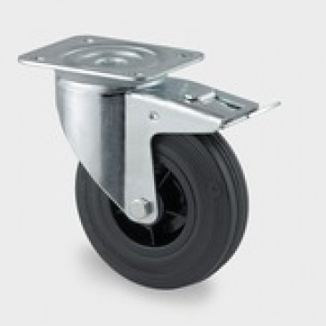 Hjul Tente drej med brems