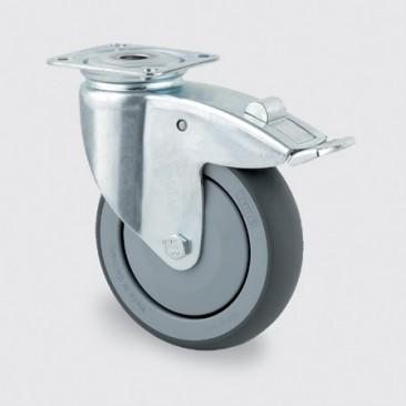 Hjul Tente drej med brems ø 75 mm
