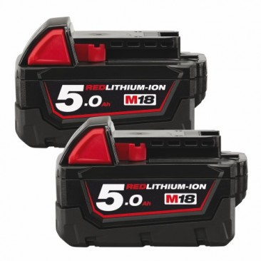 Batterier Milwaukee 2 stk M18 NRG B5 5,0...