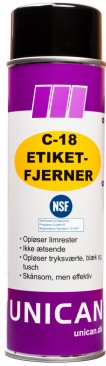 ETIKETFJERNER UNICAN C-18 500ML