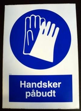 SKILTE HANDSKER P215 PÅBUD